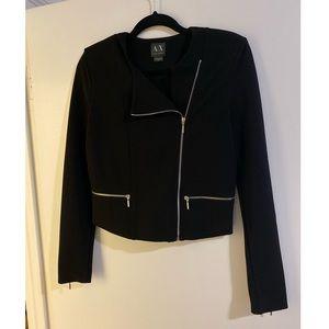Armani Exchange Black Zipper Blazer/Jacket